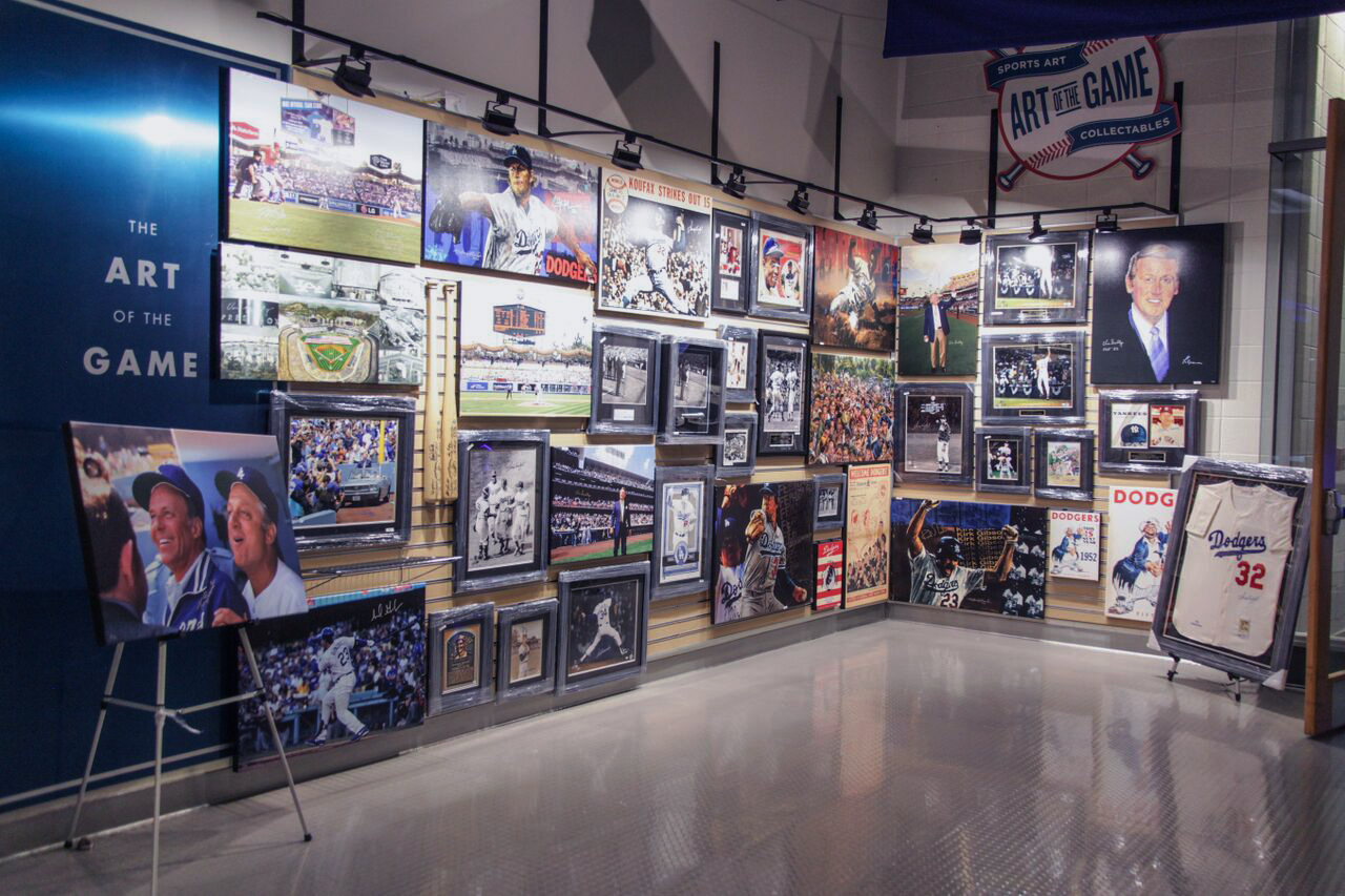 Dodger Stadium Club Level sports art wall