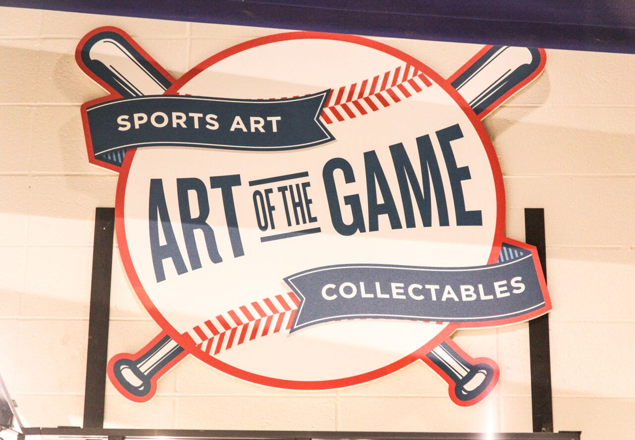 Art of the Game sports art collectables logo sign