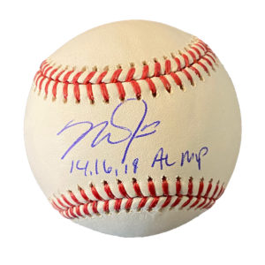 "Mike Trout ""14,16,18"" AL MVP Autographed Ball"