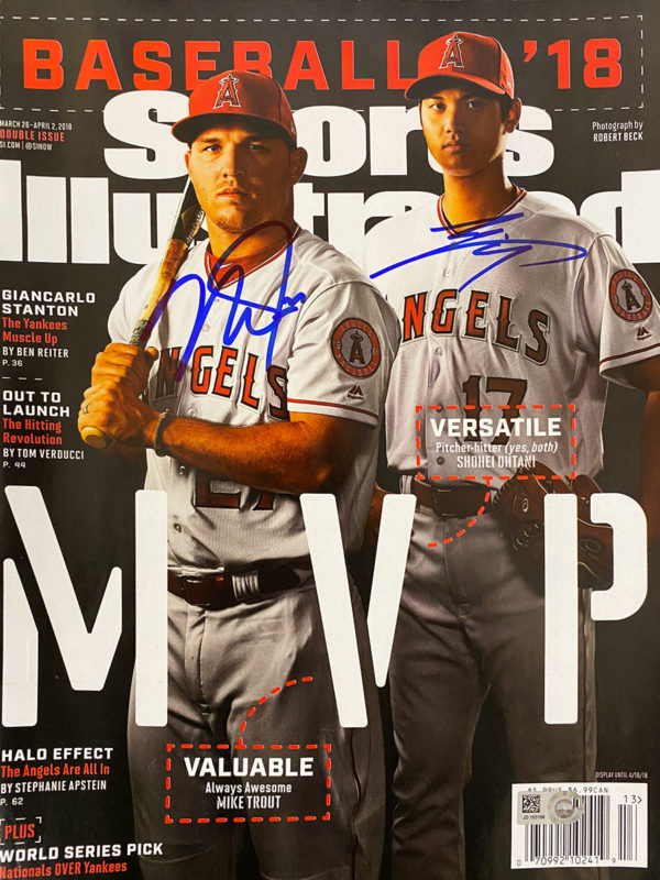 Mike Trout & Shohei Ohtani Signed Sports Illustrated