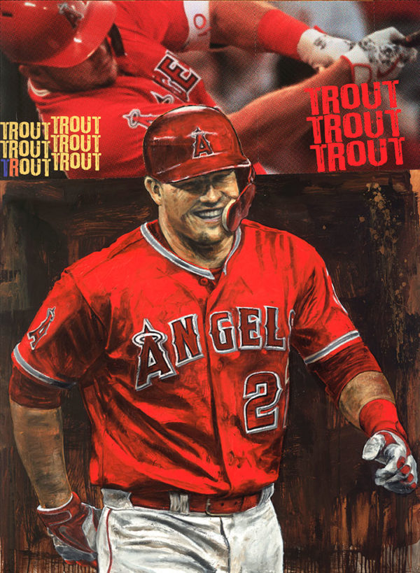Mike Trout by Stephen Holland