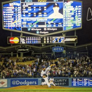 Kershaw No Hitter Canvas