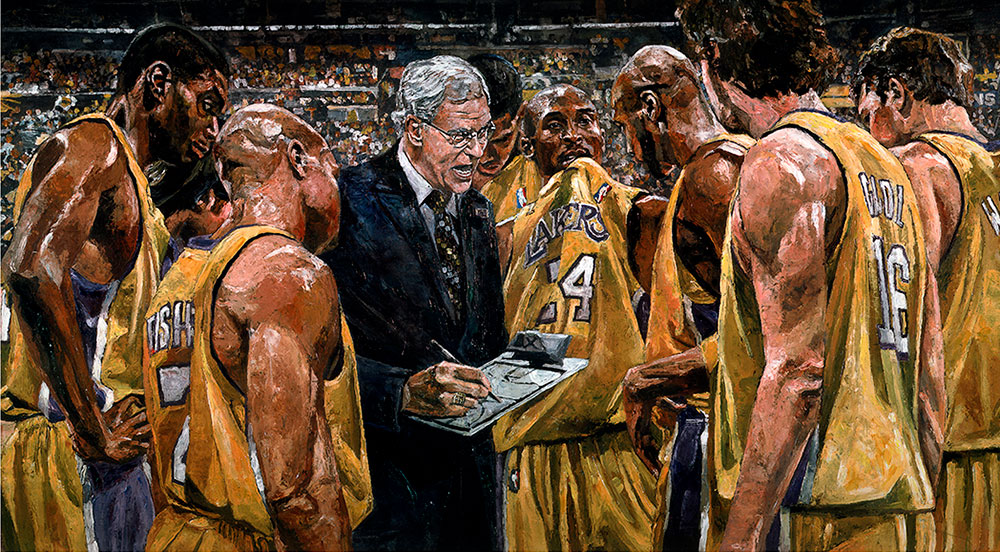 2010 Lakers Huddle by Opie Otterstad