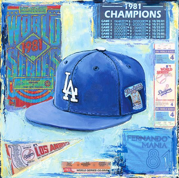 Lindsay Frost Dodgers Cap 1981
