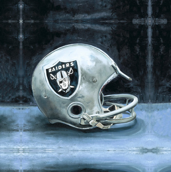 Lindsay Frost Oakland Raiders Helmet